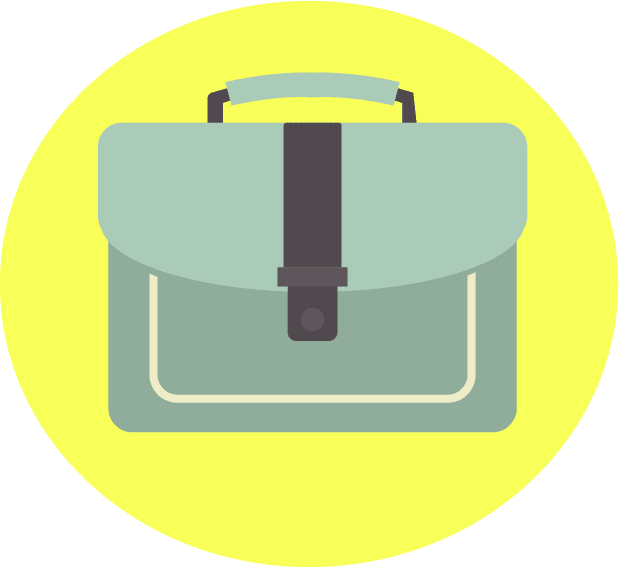 Vector portfolio briefcase. Created by Shari Rose.