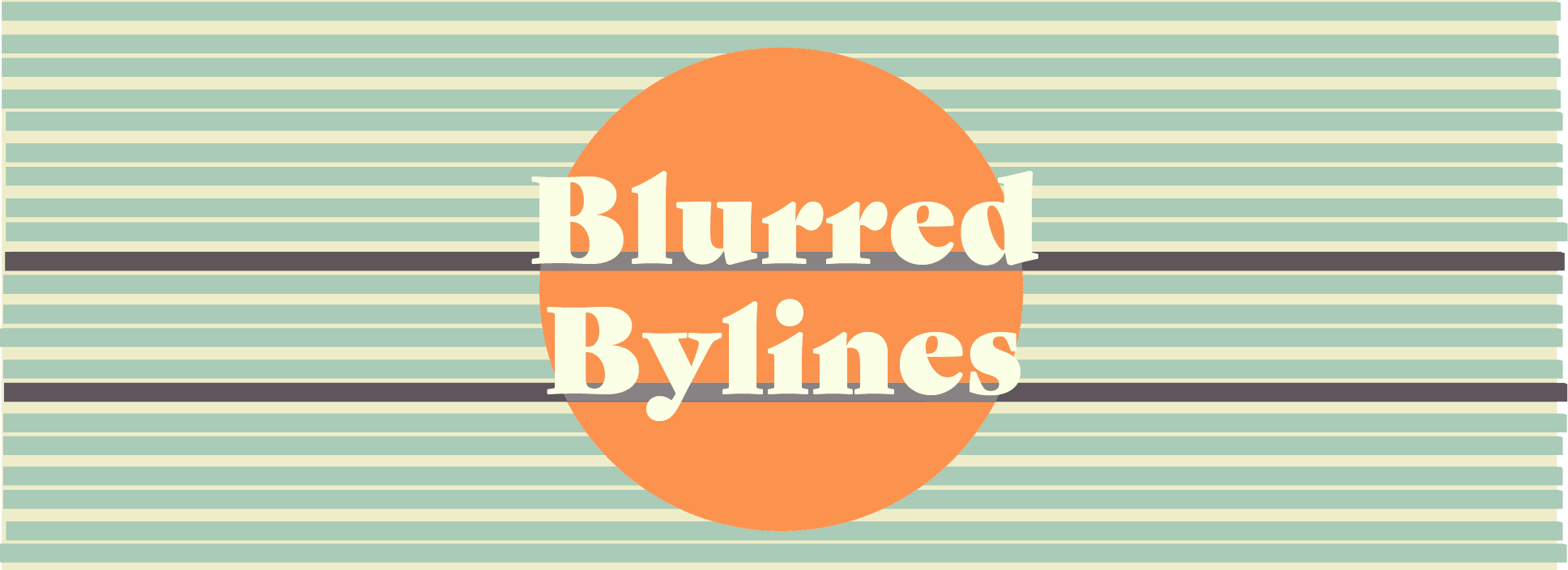 Blurred Bylines logo created by Shari Rose.
