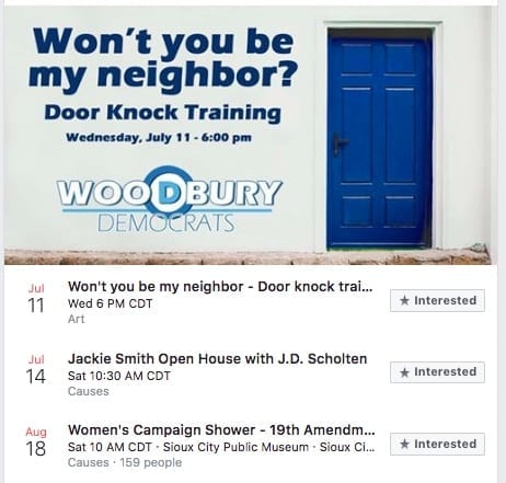"""Smith offers """"Won't you be my neighbor?"""" trainings for how to approach voters while knocking on doors."""