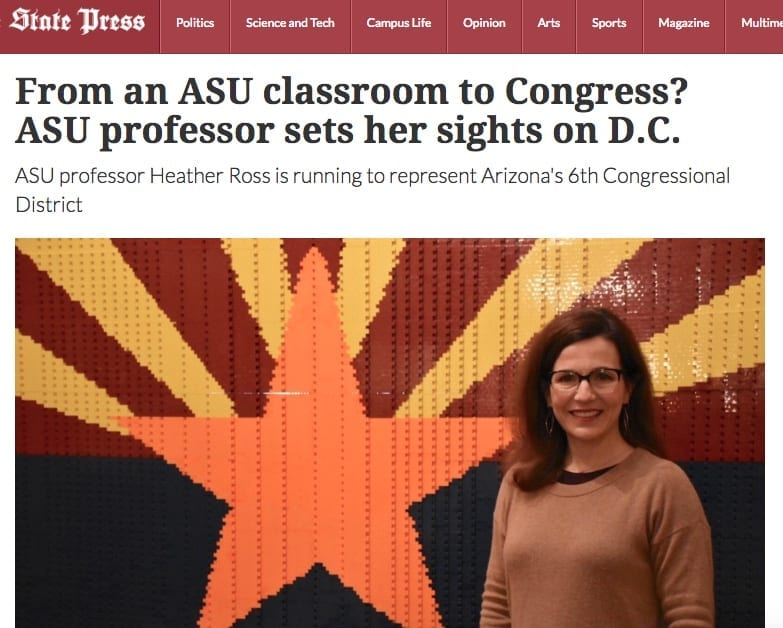 The State Press at ASU covered Heather Ross' campaign for office