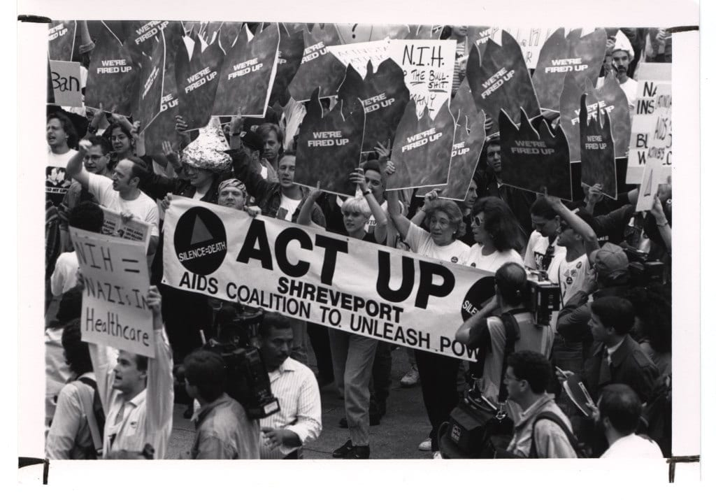 ACT UP AIDS protesters