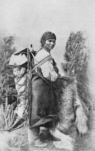 Navajo woman and baby