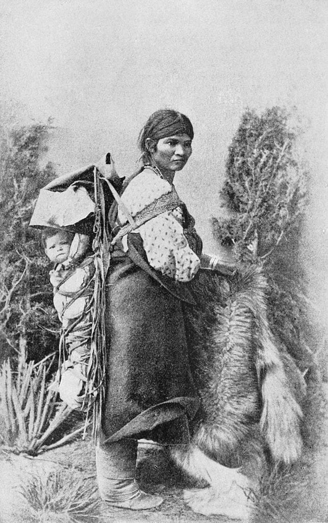 Navajo woman with baby